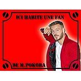 Plaque Alu plaque de rue Fan de M.Pokora