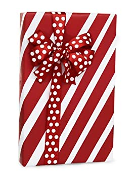 Premium Quality Gift Wrap Paper, Holiday Wrapping Paper, Red and White Wrapping Paper