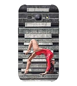 EPICCASE Gymnastic Girl Mobile Back Case Cover For Samsung J1 Ace (Designer Case)