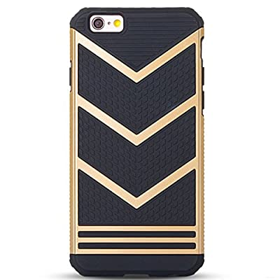 iPhone 6 Case,iPhone 6s Case,[4.7inch]by Ailun,Slip-Proof Rugged Bumper,Non-Gap Fit,Shock-Absorption&Anti-Scratches,Fingerprints&Oil Stains,Protective&Stylish,Ultra Slim Back Cover[Gold Black]