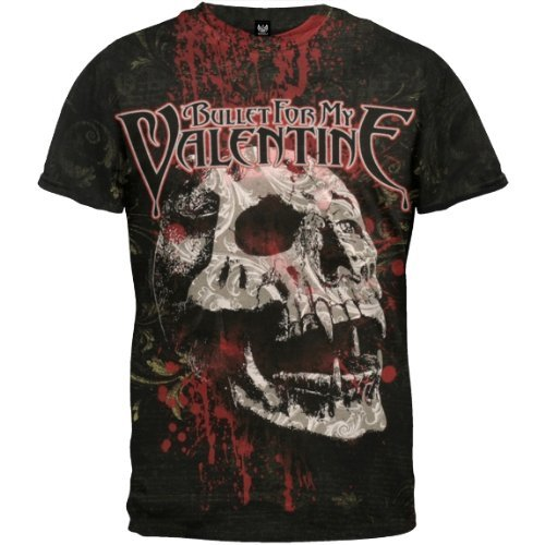 Old Glory Mens Bullet For My Valentine - Bloodskull T-Shirt - X-Large Black