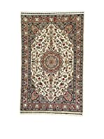 L'Eden del Tappeto Alfombra Kashmirian F/Seta Beige / Gris / Marrón 147  x  92 cm