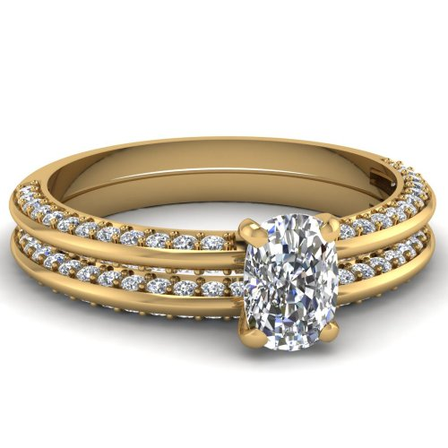 Knife Edge Engagement Ring