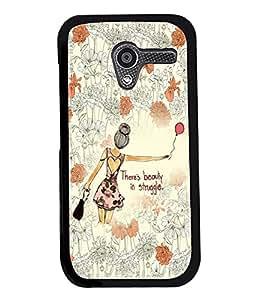 Fuson Flower Pattern Girl Back Case Cover for MOTOROLA MOTO X - D3830