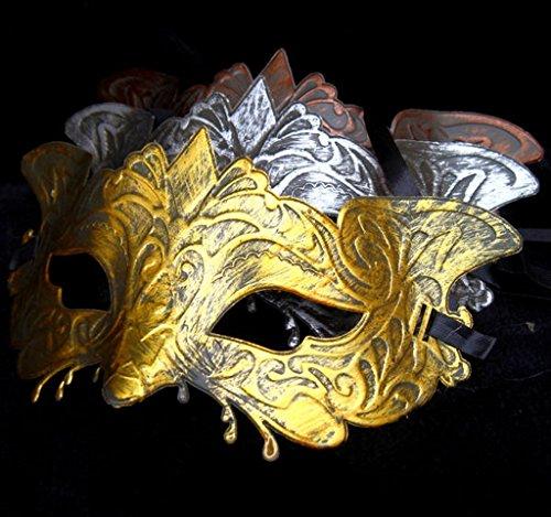3 color set couple group Venetian mask Halloween (Antique 410)