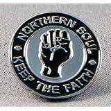 Enamel Badge Northern Soul Reggae Ska Fist
