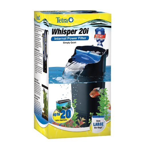 Whisper In-Tank Filter 20i with BioScrubber for 10 - 20 gallon aquariums (25817)