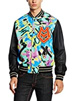 Love Moschino Cazadora College (Negro / Multicolor)