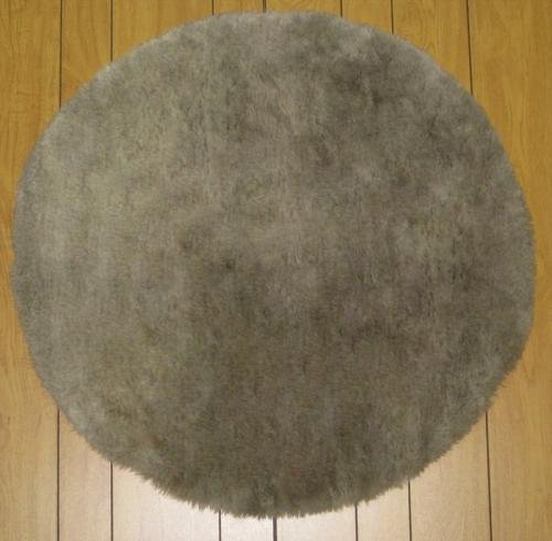 Flokati Faux Fur Rugs 6' Round (BROWN)