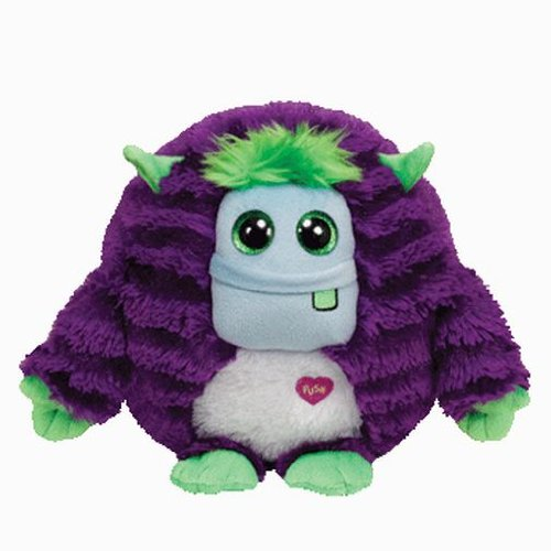 "Ty INC Monstaz Frankie the Purple & Green Monster 5"" Plush Toy"