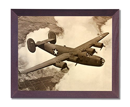 B-24 Liberator Bomber Military Aircraft Jet Airplane Picture Framed Art Print