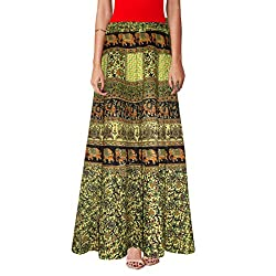 Traditional Animal Print Cotton Long Length Wrapaound Skirt