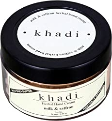 Khadi Milk & Saffron Hand Cream With Sheabutter, 50g