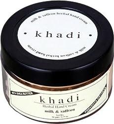 Khadi Milk & Saffron Hand Cream With Sheabutter, 50g