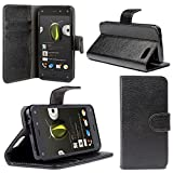 i-Blason Amazon Fire Phone Case - Slim Leather Wallet Book Cover with Stand Feature and Credit Card ID Holders (Black)