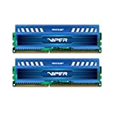 Patriot 8GB(2x4GB) Viper III  DDR3 1600MHz (PC3 12800) CL9 Desktop Memory With Saphire Blue Heatsink- PV38G160C9KBL