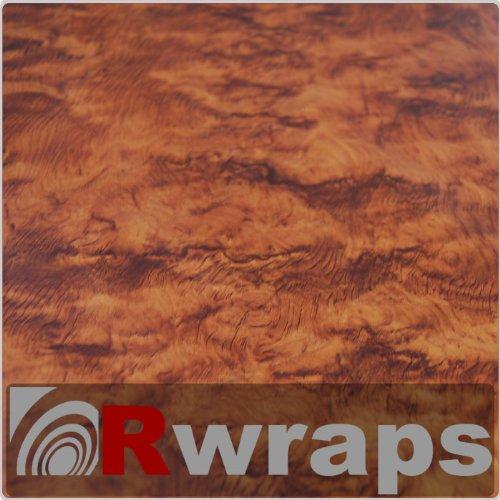 Burlwood Honey Wood Grain Film Vinyl Sheet Roll Wrap 108