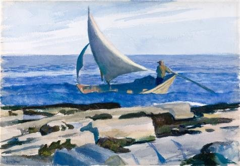 The High Quality Polyster Canvas Of Oil Painting 'Edward Hopper,The Dory,1929' ,size: 20x29 Inch / 51x73 Cm ,this Cheap But High Quality Art Decorative Art Decorative Canvas Prints Is Fit For Home Theater Decor And Home Artwork And Gifts
