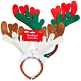 Christmas House Reindeer Headbands with Bells, 2-ct. Packs (Set of 2)