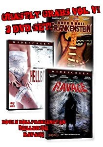 Ghastly Grabs Vol. 6 - 3 DVD Movies (OC Babes and the Slasher of Zombietown, Hellbride, Rock and Roll Frankenstein)