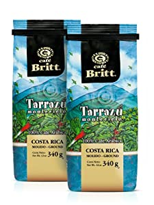 Cafe Britt Tarrazu Montecielo Ground Coffee, 12-Ounce Bags (Pack of 2)