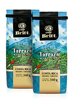 Cafe Britt Tarrazu Montecielo Ground Coffee, 12-Ounce Bags (Pack of 2) from Cafe Britt