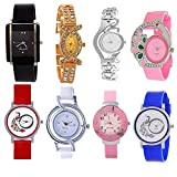 #9: Opendeal Analog Multicolor Watches For Girls Womens (Od-W257) Pack Of 8