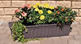 Blumenkasten 80 cm anthrazit mit Wasserspeicher MADE IN...