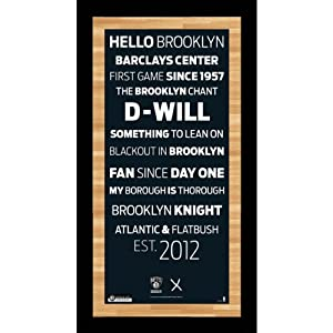 NBA Framed 9.5x19 Subway Sign Wall Art Photo with Game by Steiner Sports