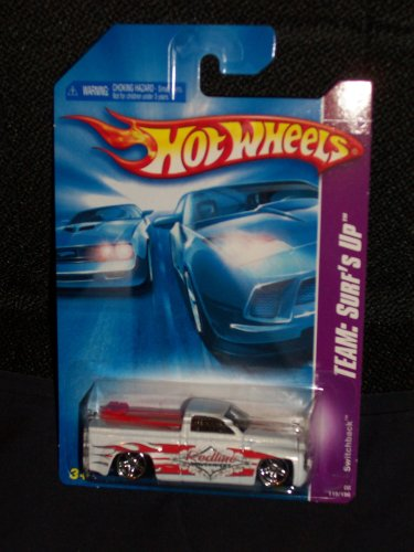 Hot Wheels 2008 119 Team: Surf's Up # 3 of 4 White Switchback Pickup Truck 1:64 Scale - 1
