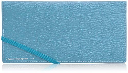 スキミングブロック パスポートケース皮革調R ライトブルー