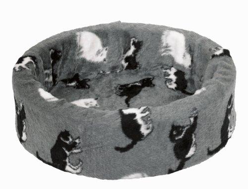 Artikelbild: Nobby 71096 Plüschbett für Katzen grau mit Katzen