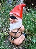 Gartenzwerg Sklave aus bruchfestem PVC Zwerg Made in Germany Figur