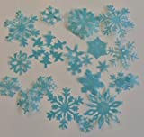 Frozen Ice Blue Snowflakes