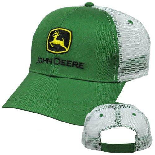 John Deere Black Cap : Comparamus john deere black mesh trucker style curved