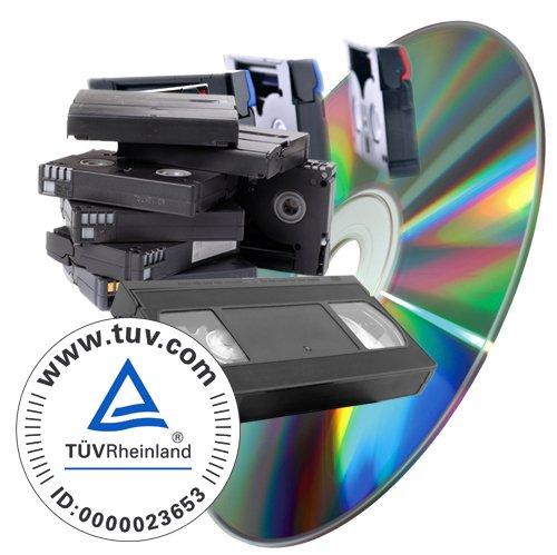digitalspezialist Videos (VHS, SVHS, Hi8, Video8, MiniDV uvm) digitalisieren auf DVD - 30 min Kassette
