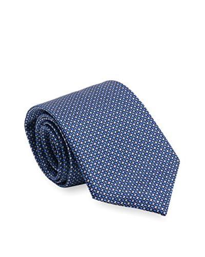 Brioni Men's Patterned Silk Tie, Blue