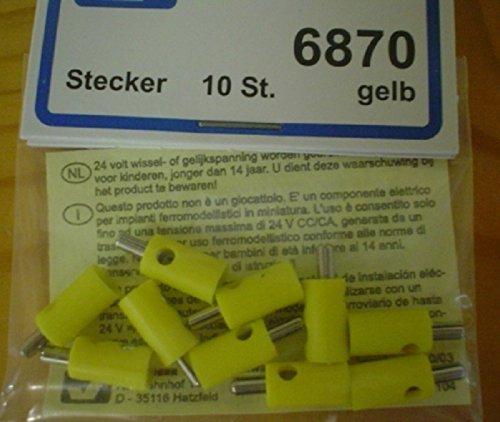 Viessmann-6870-Stecker-mit-Querloch-10-Stk-gelb