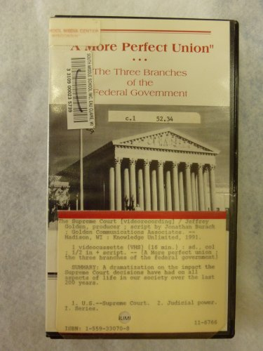 A More Perfect Union The Three Branches of the Federal Government The Supreme Court KLI Knowledge Unlimited