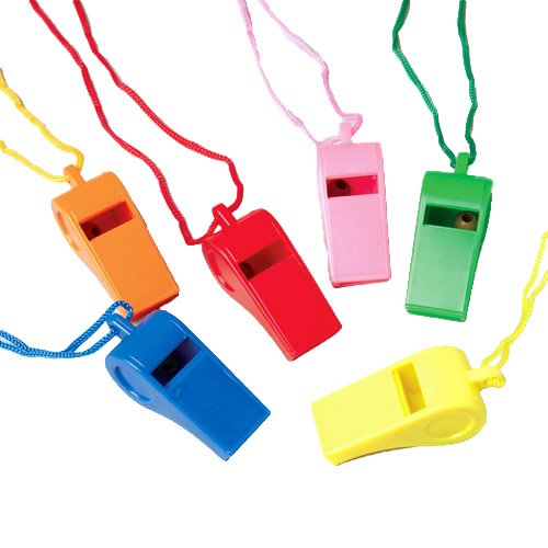 Whistles W/Lanyards