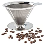 Pour Over Coffee Filter - Stainless Steel Reusable Coffee Maker and Paperless Coffee Dripper by Sweet Concepts