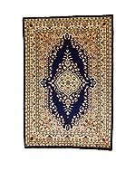L'Eden del Tappeto Alfombra Kashmirian F/Seta Beige / Azul Oscuro 184  x  125 cm