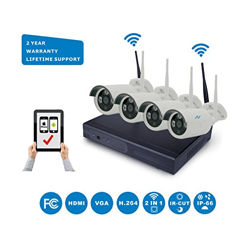 Learn More About NorthShire Wireless Surveillance Camera Kit, NVR HD Security [1.0 Megapixel] Camera...