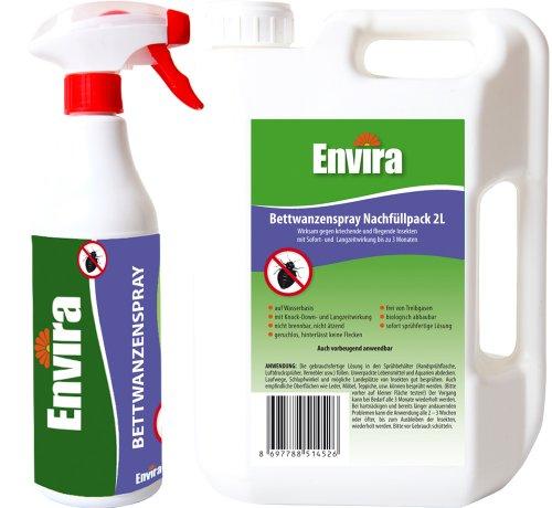 ENVIRA Bettwanzen-Mittel 500ml und 2Ltr (10,40 €/L)