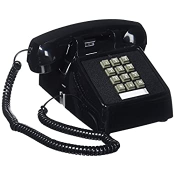 Cortelco(ITT-2500-MD-BK) Single Line Desk Telephone