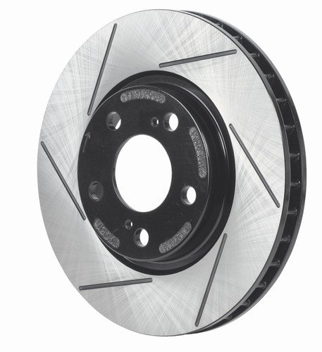 Racingbrake 93261-211 Slotted Finish Rear Brake Rotor For Corvette C5 And C6 - Pair