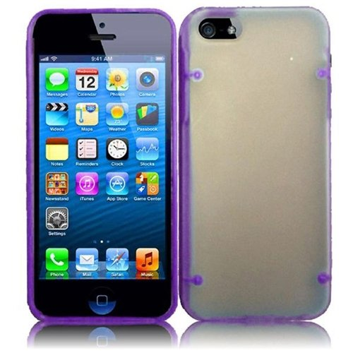 Hr Wireless Premium Pc Plus Tpu With Point Protective Carrying Case For Iphone 5/5S - Retail Packaging - Dark Purple
