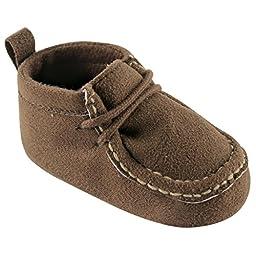 Luvable Friends Boy\'s Faux Suede Boot (Infant), Brown, 0-6 Months M US Infant