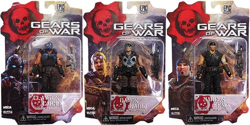 Gears of War Series 1 3.75 Inch Figure Set of 3