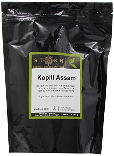 Stash Tea Kopili Estate Special Assam Black Loose Leaf Tea, 16 Ounce Pouch